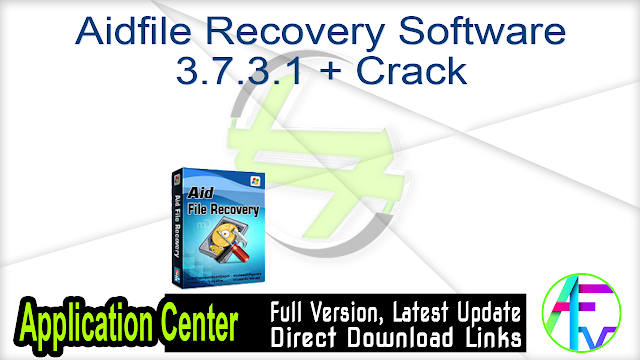 Aidfile Recovery Software 3.7.3.1 + Crack