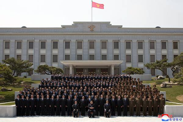 kim jong un with new leadership of party and state