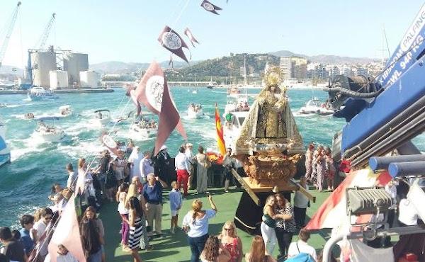 Cinco procesiones del Carmen recorren este fin de semana las calles de Málaga