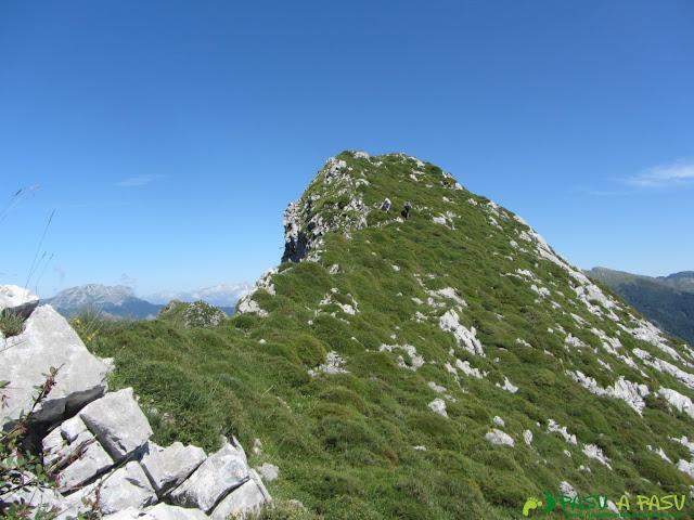 Tramo final a la cima de Peña Brañapiñueli