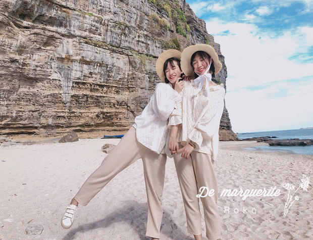 chụp ảnh đi biển với bạn thân, chup anh di bien voi ban than