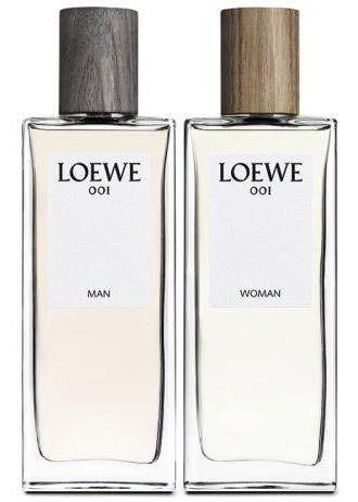 Loewe 001 nuevas fragancias para mujer y hombre