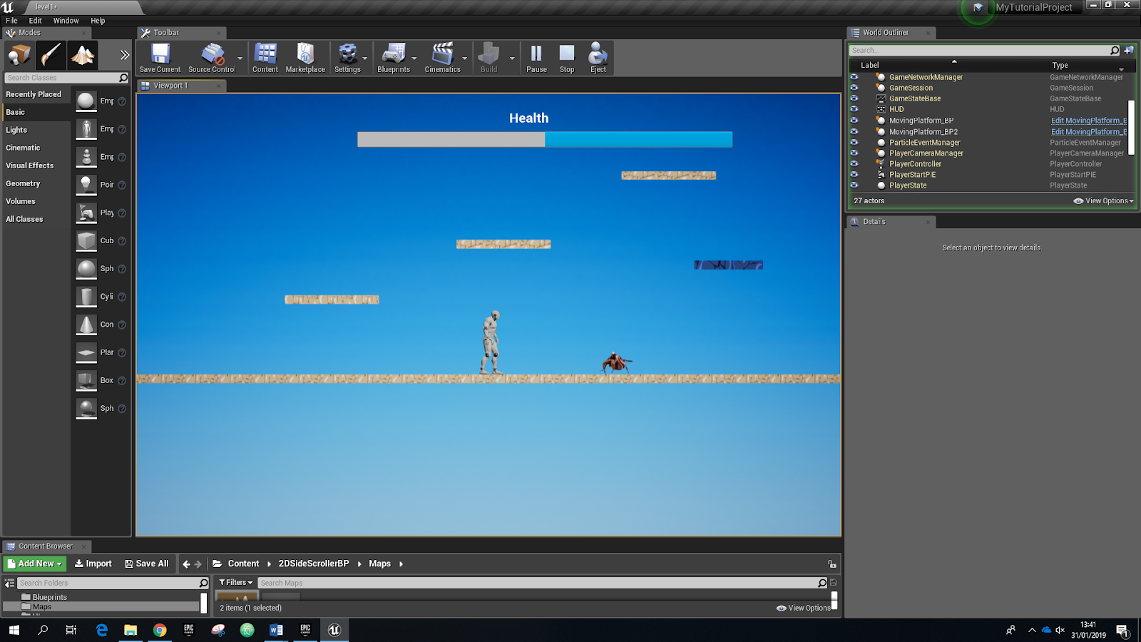 My First 2D Game in UE4: The enemies | OnlineDesignTeacher
