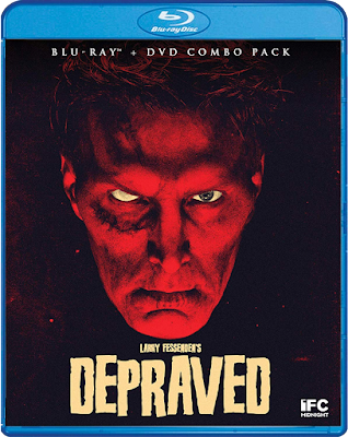 Cover art for Scream Factory's Blu-ray release of Larry Fessenden's DEPRAVED!
