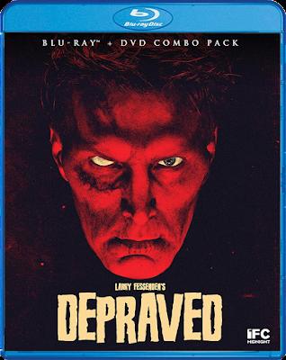 Cover art for Scream Factory's Blu-ray release of Larry Fessenden's DEPRAVED!