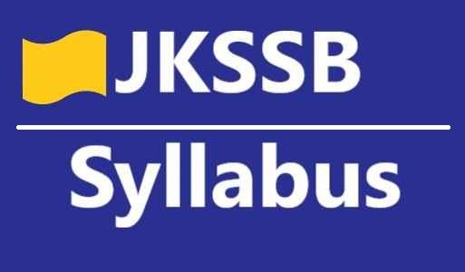 JKSSB Syllabus Pdf