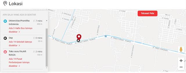 lokasi letak perumahan tangerang