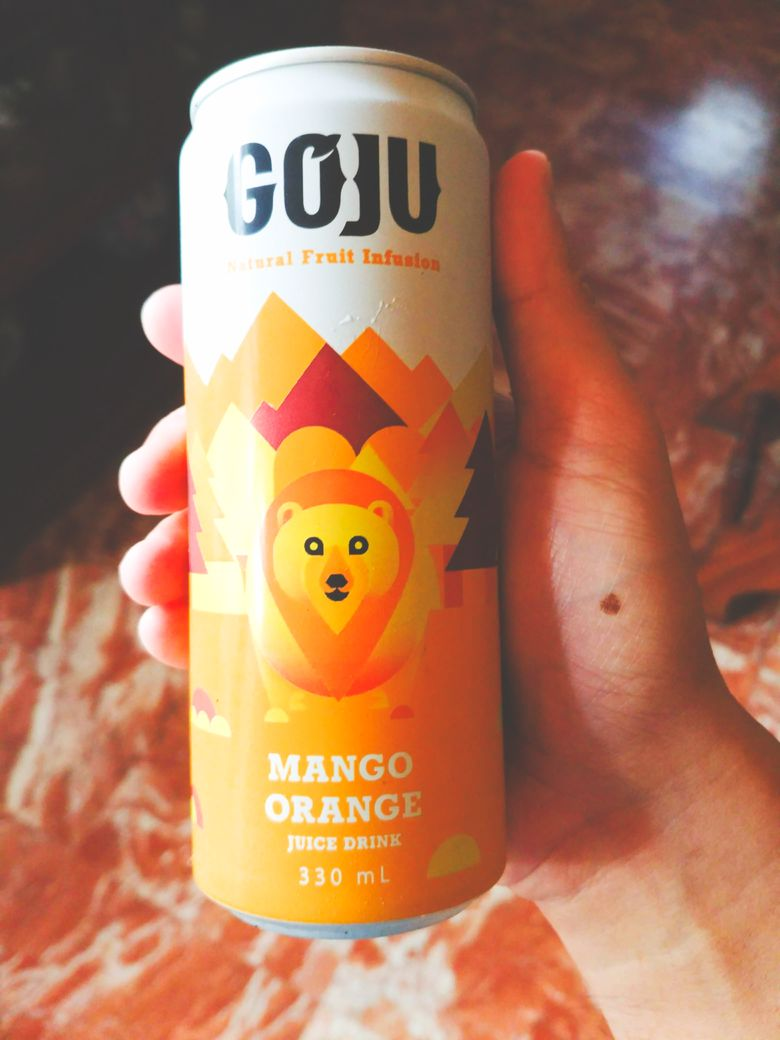 GoJu Natural Fruit Infusion mango orange drink