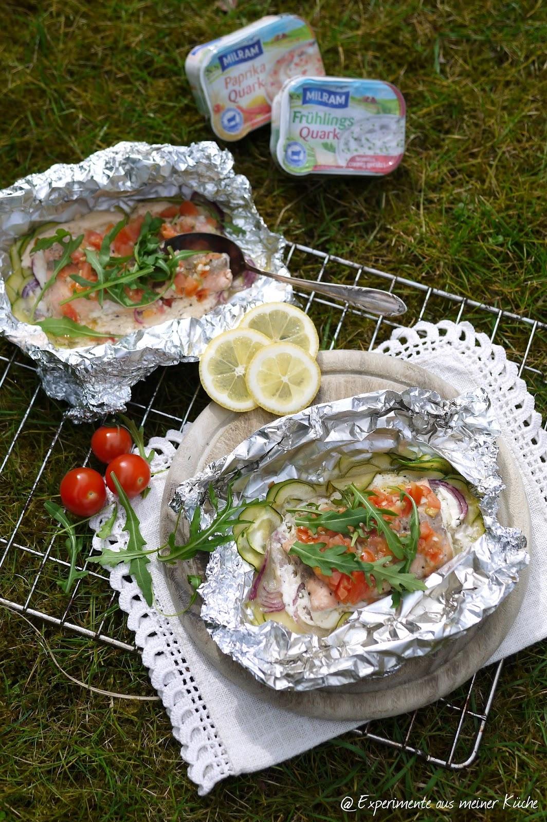 Experimente Aus Meiner Kuche Lachs Gemuse Packchen Vom Grill