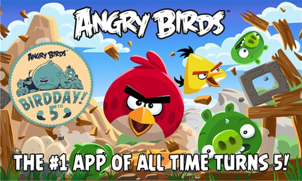Rovi celebrates Angry Birds' fifth birthday with an update