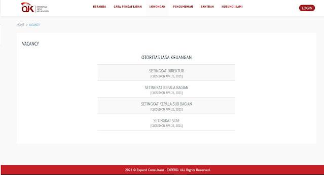 Job Vacancy Di Otoritas Jasa Keuangan (OJK)