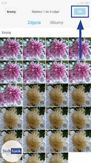 Xiaomi Wybór zdjęć do kolażu