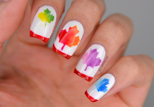 Maple Leaf Nail Art