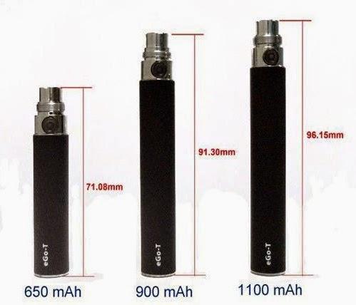 Baterías cigarro electronico de diferentes mAh