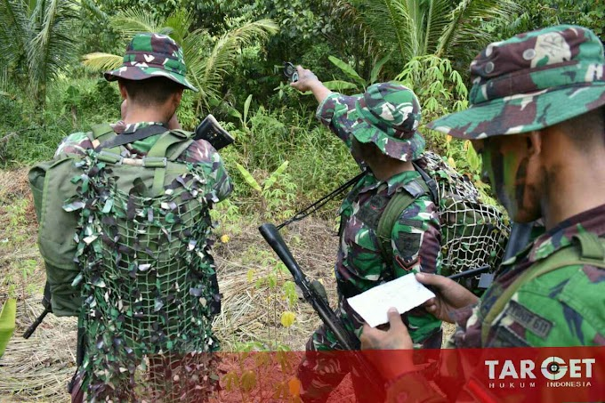 Jelang Keberangkatan ke Perbatasan Indonesia - Papua Nugini Prajurit Yonif 611 Awang Long Latihan Ilmu Medan