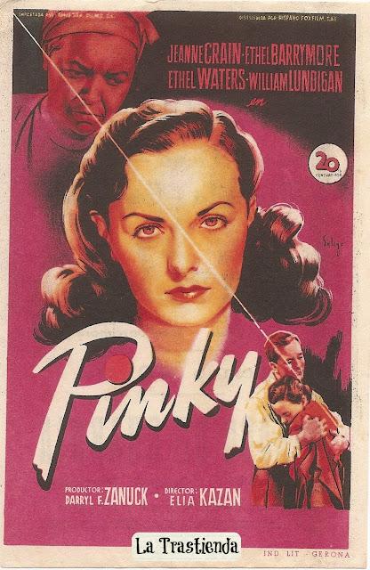 Programa de Cine - Pinky - Jeanne Crain - Ethel Barrymore
