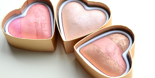 Makeup Revolution Blushing Hearts & Goddess of Love (I heart makeup)