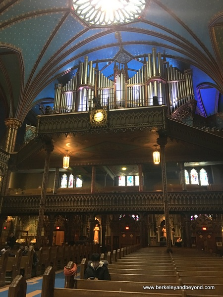 7,000-pipe organ in Notre-Dame Basilica of Montreal in Vieux-Montréal, Canada