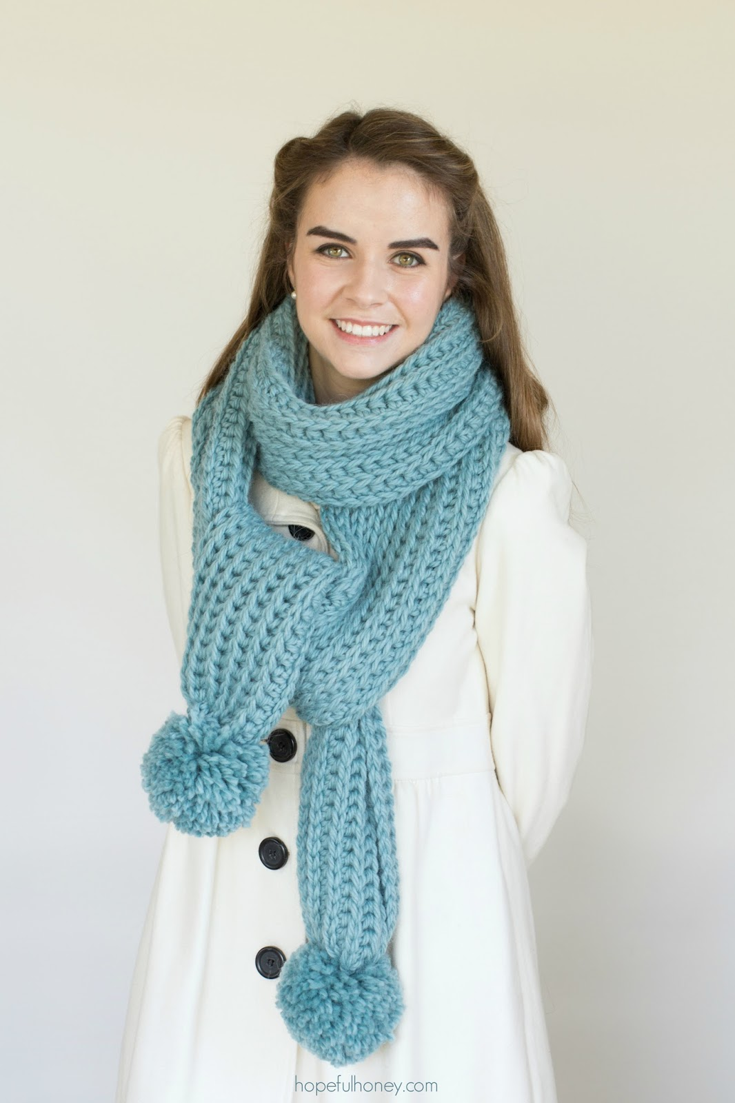 Knitting Pattern Ribbed Scarf : Hopeful Honey Craft, Crochet, Create: Himalayan Mist ...