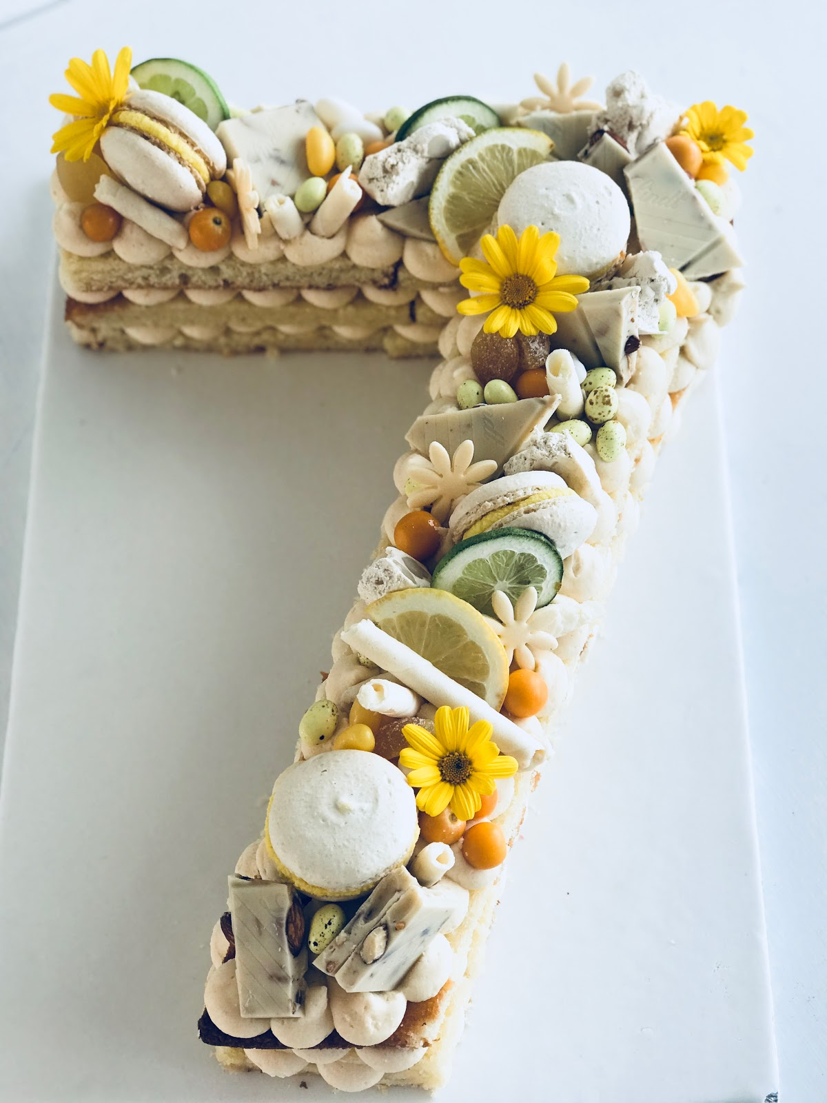 Cape Town Birthday Cakes Love This New Style Of Doing The Rounds Is A Lemon And Almond Number 7 Cake