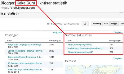 Kerja sama dengan Kaka Guru, informasi statistik pengunjung blog kaka guru