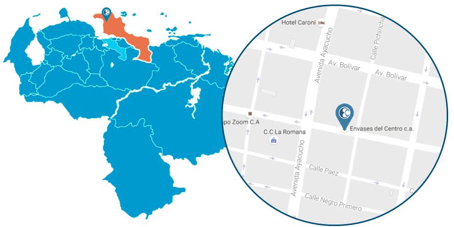 Mapa Envases del Centro C.A.