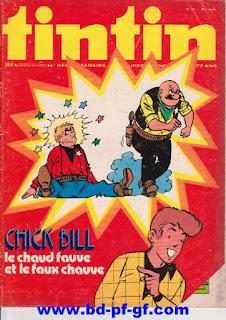 Tintin numéro 43, 1975, Chick Bill
