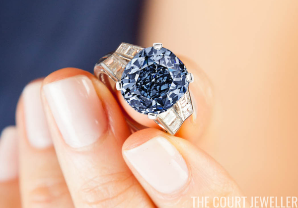 Blue Diamond Wedding Ring