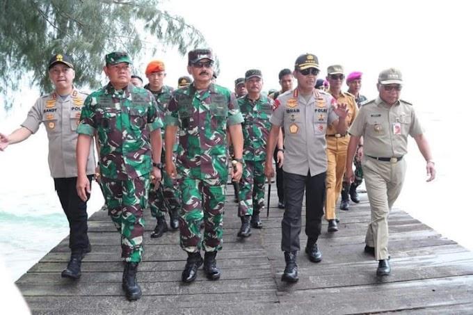 Panglima TNI bersama Kapolri Tinjau Lokasi Observasi WNI di Pulau Sebaru