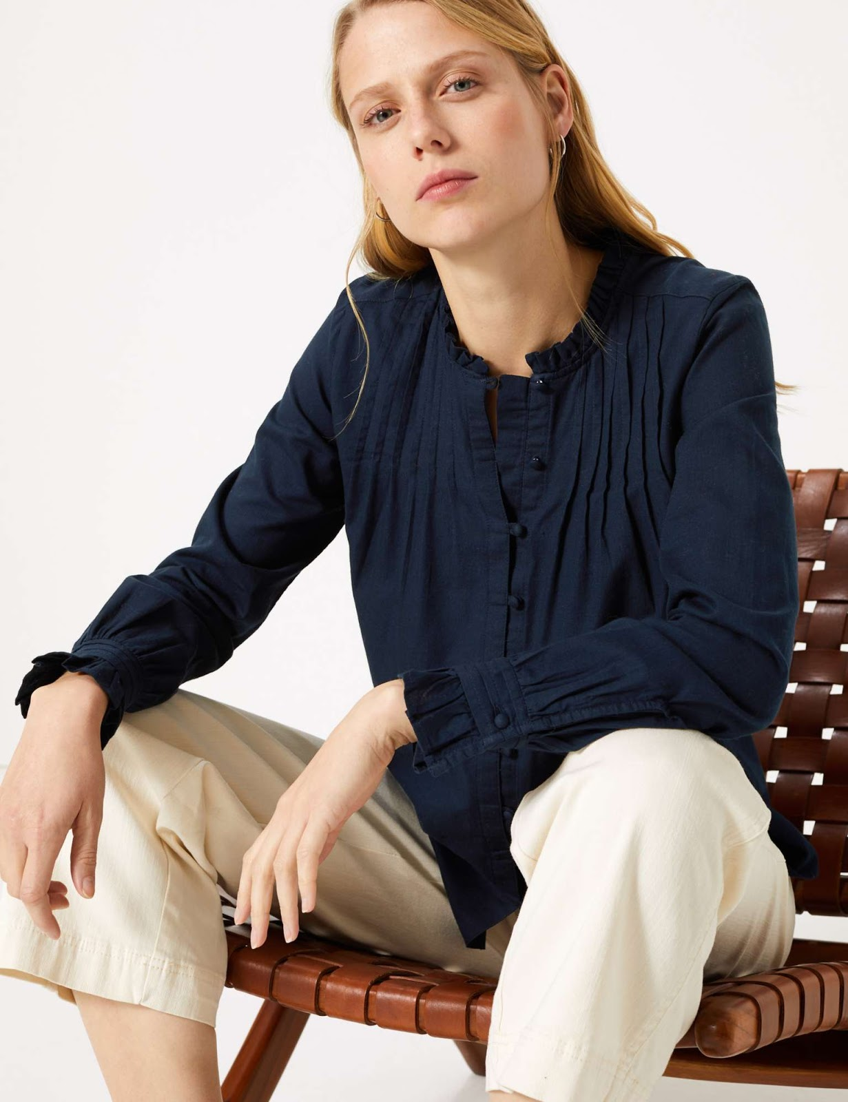 Marks and Spencer button detailed blouse