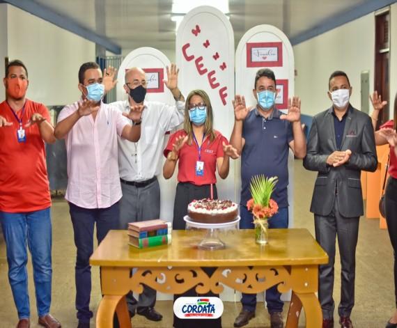 COROATÁ - Prefeito Luís Filho e o vice Juscelino da Fazendinha prestigiam a celebração dos 22 anos em Complexo Educacional