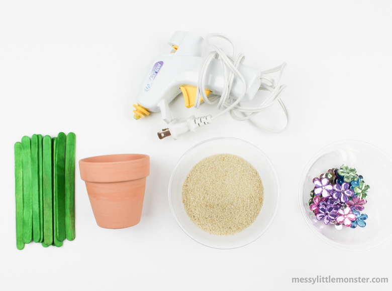flower pot craft supplies