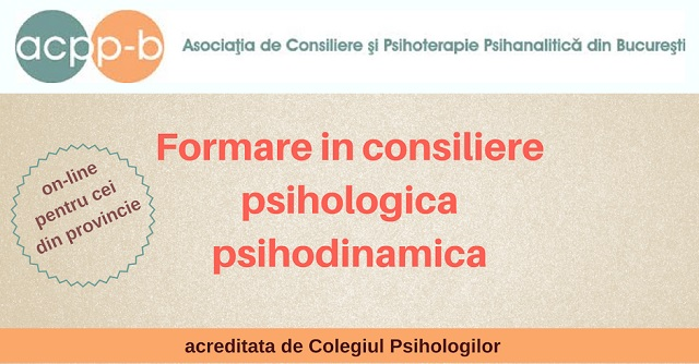 formare in consiliere psihologica si psihodinamica