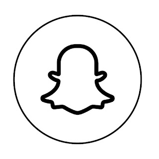 line drawing of snapchat logo vector line drawing