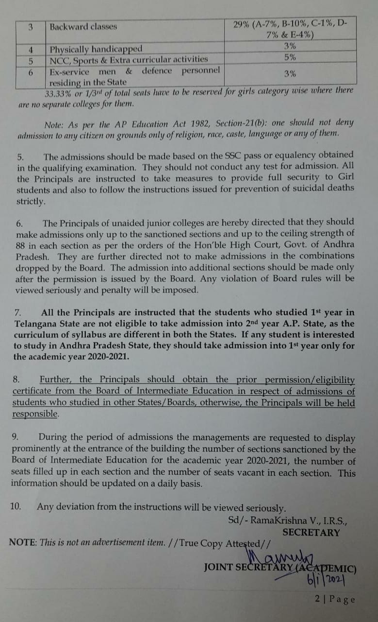 Junior Intermediate Admissions Schedule1