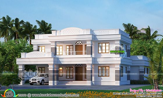 Decorative 4 bhk home plan design