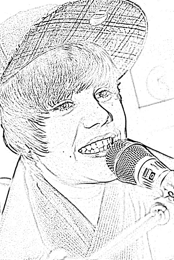 Colouring pictures of justin bieber