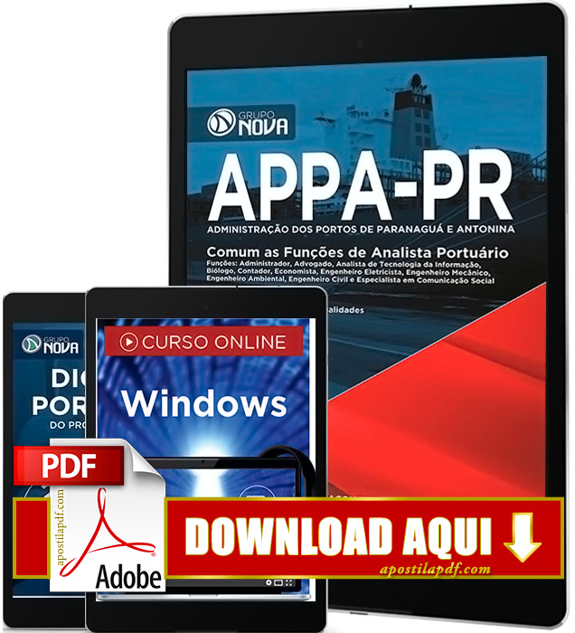 Apostila APPA PR 2016 PDF Download Analista Portuário