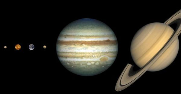 row planets in space - photo #16