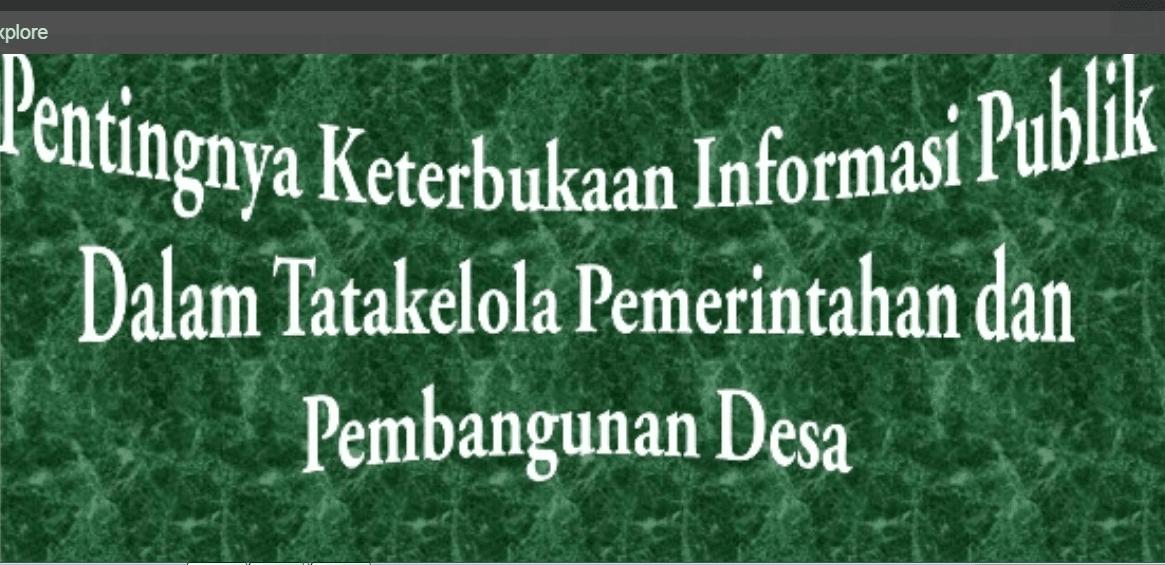 Informasi Desa yang Wajib Diberikan ke Masyarakat Berdasarkan UU  Memahami 3 Informasi Desa yang Wajib Diberikan ke Masyarakat Berdasarkan UU 6/2014