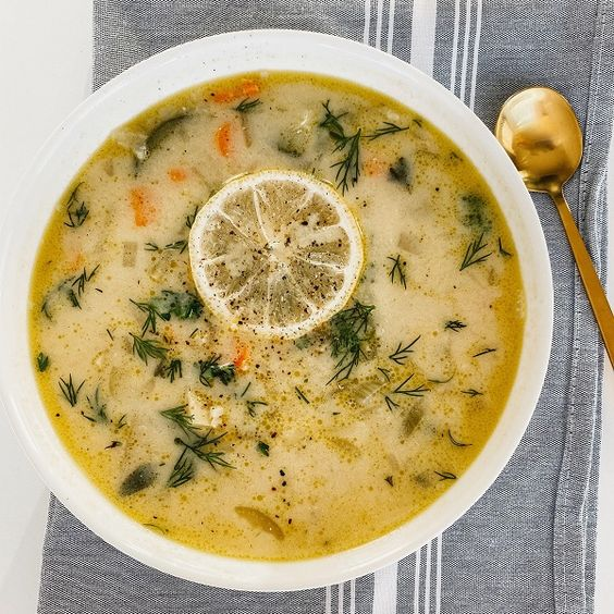 Vegetarian Greek Lemon Soup