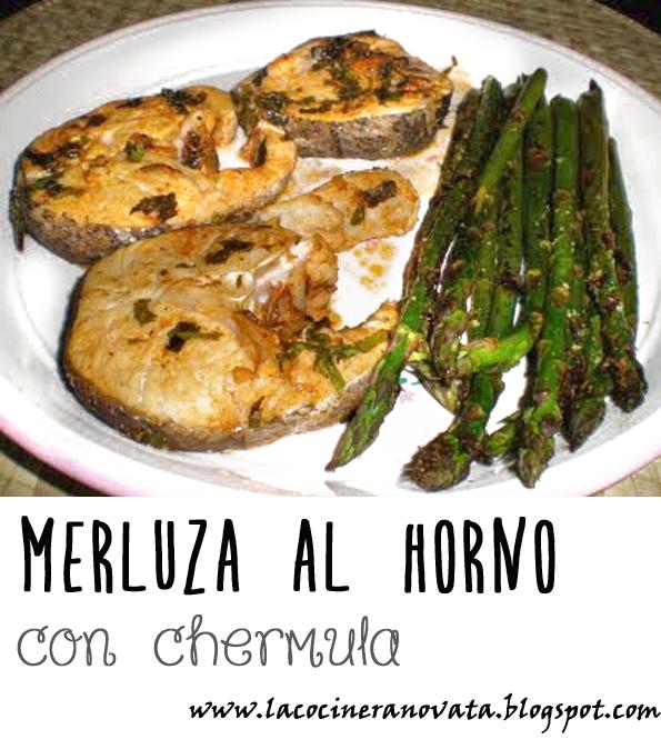 MERLUZA AL HORNO CON CHERMULA receta cocina la cocinera novata pescado pobres economica horno bajo en calorias especias marruecos marroqui