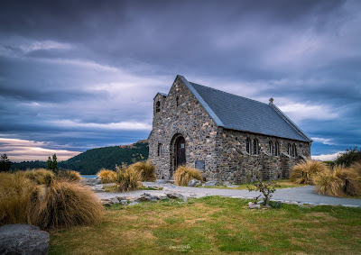 Chruch of the Good Shepherd, Sunset, Lake Tekapo