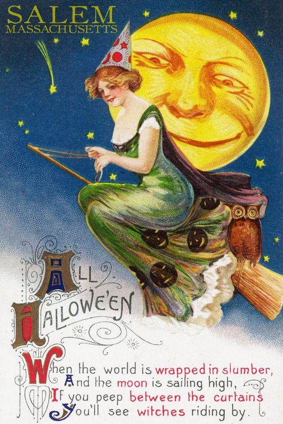 Старинные открытки в честь Хэллоуина - 04
