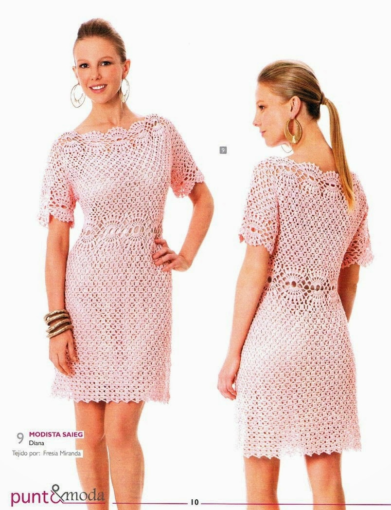 Finísimo vestido rosado - con explicación en Español
