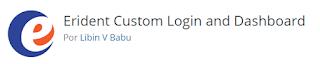 Erident Custom Login and Dashboard