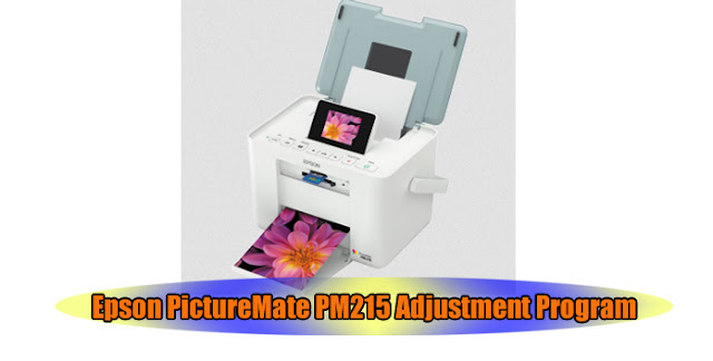 Epson PictureMate PM215 Printer Adjustment Program