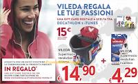 Logo Vileda regala le tue passioni: ricevi come premio sicuro Gift Card Decathlon o iTunes da 15€