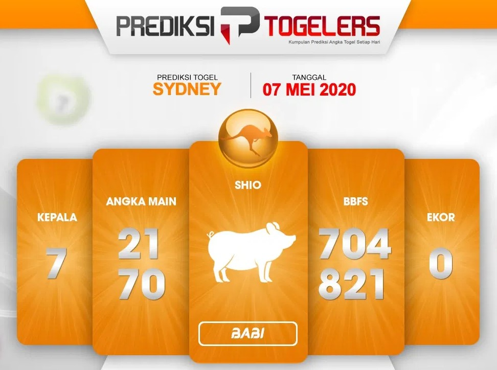 Prediksi Togel Sydney 07 Mei 2020 - Prediksi Togelers