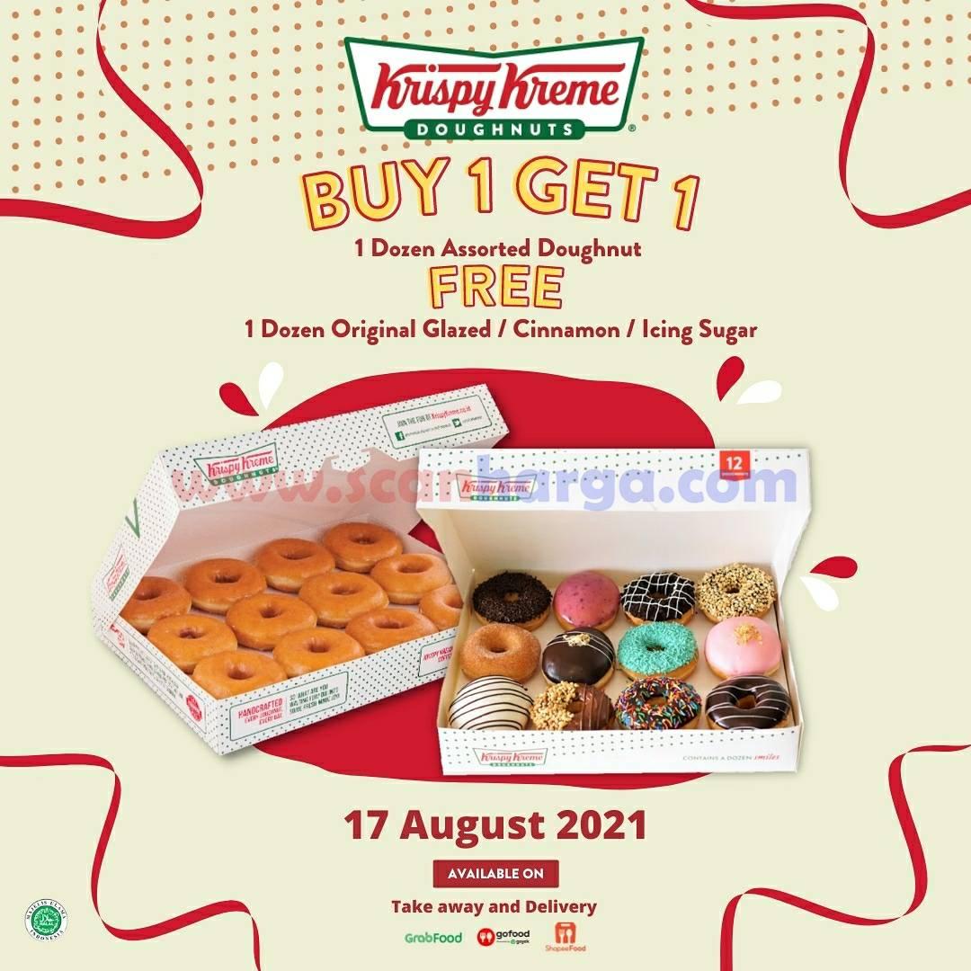 Promo Krispy Kreme 17 AGUSTUS HUT RI 76 - Beli 1 Gratis 1